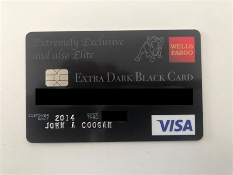 credit card   extra dark black card john