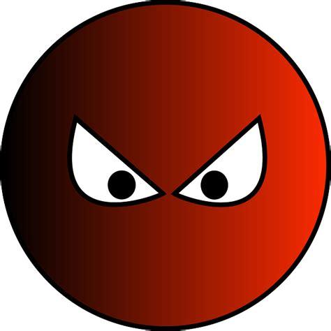 vector graphic ball eyes cartoon aggressive