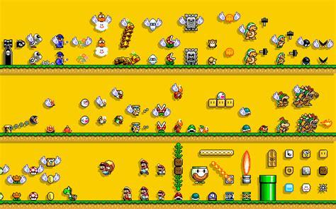mario bros video games  bit simple background retro