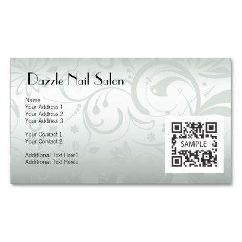 business card template nail salon zazzlecom