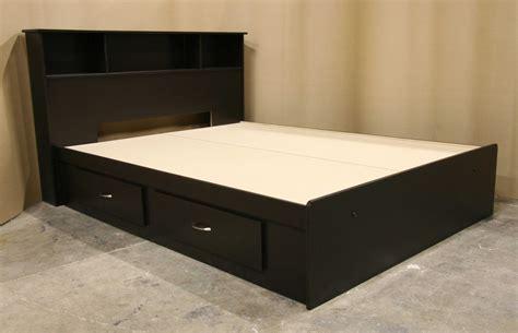 king bed platform black bed with 4 drawers underneath decofurnish