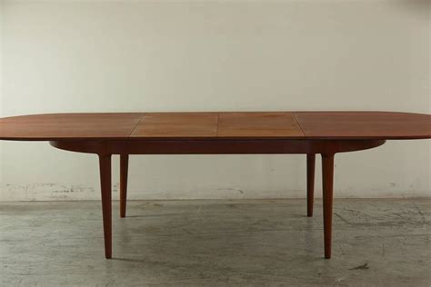 oval dining table with extension teak oval extension dining table by arne hovmand for 7249