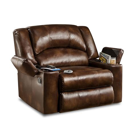 simmons encore bonded leather oversized downtime lounger