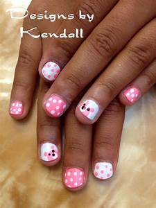 Kid nail designs. Baby bears nail art. in 2019 | Nail art ...