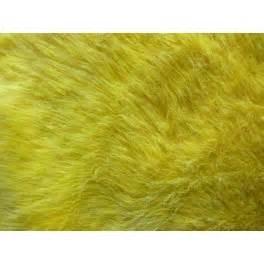 Fausse Fourrure Tissu : tissu fausse fourrure synth tique poils longs jaune a0009 ~ Teatrodelosmanantiales.com Idées de Décoration