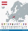 Austria Location On Europe Map. Transparent Background ...