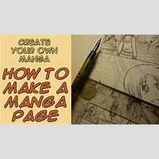 Create Your Own Manga  How To Make A Manga Page  Youtube