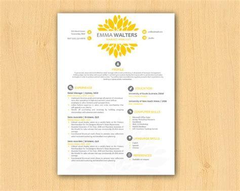Diy Resume Template by Yellow Chrysanthemum Modern Diy Microsoft Word Resume Template 1 2 P Resume Template Word