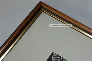 Bilderrahmen Braun Holz : 2 holz bilderrahmen wechselrahmen berliner leiste braun m gold glas r ckwand ~ Markanthonyermac.com Haus und Dekorationen