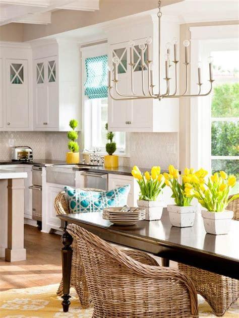 mind wanders yellow turquoise white kitchen
