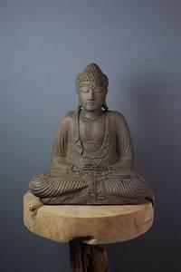 Statue Bouddha Interieur : statue bouddha dhyana mudra 42 cm marron ~ Teatrodelosmanantiales.com Idées de Décoration