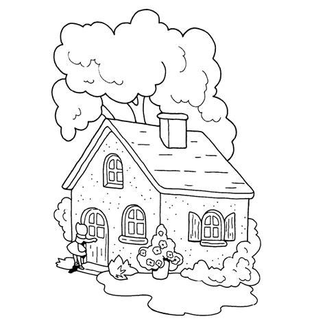 Huis Up Kleurplaat by Leuk Voor Bij Het Huis Grootmoeder