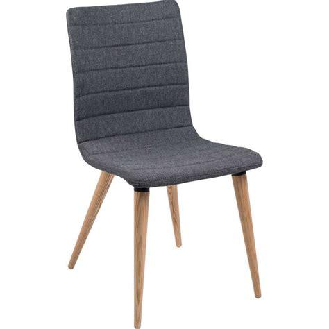 chaise tissus chaise scandinave en tissu et bois doris 4 pieds