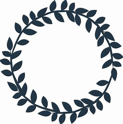 Leaves Wreath Circle Clipart Silhouette Cdr Baseball