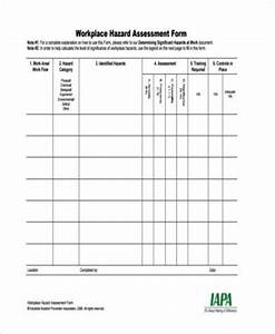 sample hazard assessment forms 7 free documents in word With workplace hazard assessment template