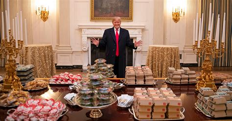 white house visit donald serves buffet of fast food for clemson s
