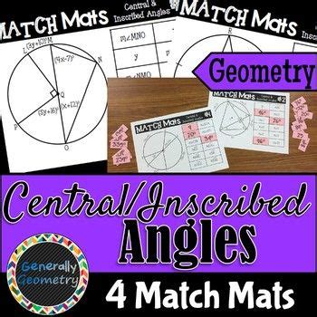 worksheet inscribed angles  arcs day  answer key