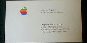 Three rare steve jobs business cards just sold for over for Steve jobs business card