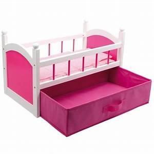 Lit Poupee En Bois : lit de poup e rosy avec tiroir achat vente maison poup e cdiscount ~ Teatrodelosmanantiales.com Idées de Décoration