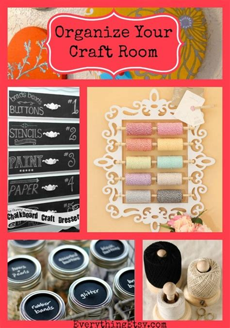 organize  craft room quick diy projects