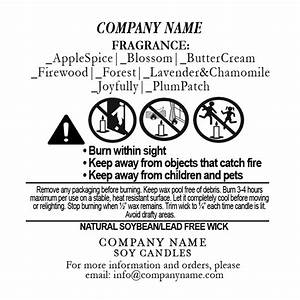 2175 pretabbed candle wicks supplyloft With candle warning labels template