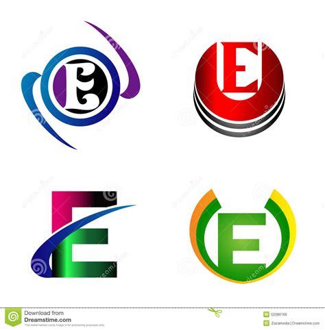 e by design letter e logo design template letter e icon stock vector