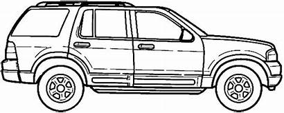 Explorer Ford Suv Blueprints Blueprint Clipart 2002