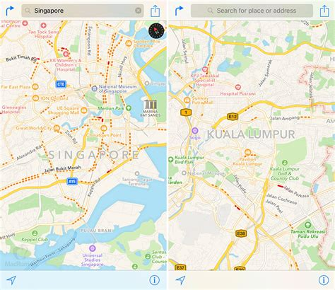 apple maps traffic data expands  singapore  malaysia macrumors