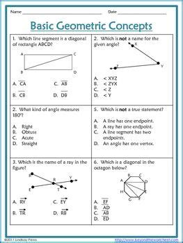 Worksheets, Multiple Choice And Angles On Pinterest