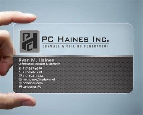 construction business card design  pchainesinc