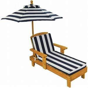 Kidkraft 00105 0706943001059 kinder liegestuhl mit for Französischer balkon mit kinder sonnenschirm