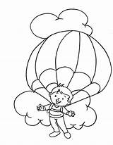 Parachute Coloring Pages Skydiving Parachuting Enjoying Paratrooper Template Popular Printable Getcolorings Azcoloring Az 792px 65kb Sketch sketch template