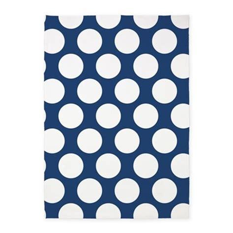 polka dot rug navy blue polkadot 5 x7 area rug by zandiepantshomedecor