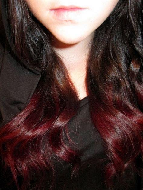 pieces ombre dip dye human hair extensions dark