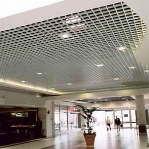 Installer Spot Plafond Existant : faux plafonds r sille maille carr e richter system ~ Dailycaller-alerts.com Idées de Décoration