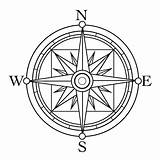 Compass Tattoo Coloring Clip Template Pages Rose Drawing Simple Line Print Clipart Sketch Sheet Star North Basic Google Marine East sketch template