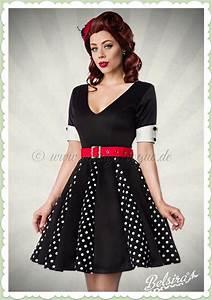 50 Er Jahre Style : belsira 50er jahre retro petticoat punkte kleid godet schwarz wei ~ Sanjose-hotels-ca.com Haus und Dekorationen
