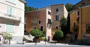 Orange and pink Provencal houses