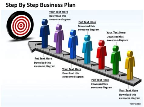 business powerpoint templates step  plan sales