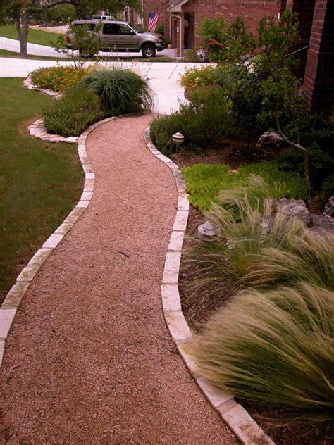 crushed walkway crushed granite and paver walkway my garden yard pinterest