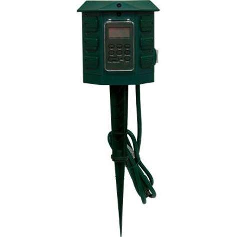 westek 15 amp plug in outdoor digital timer tm15dolb the