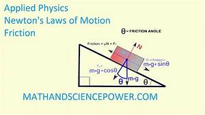 Applied Physics  Newton U0026 39 S Laws Of Motion  Friction