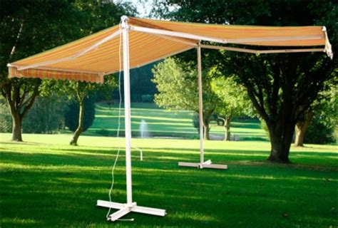 free standing motorized sided retractable awning w