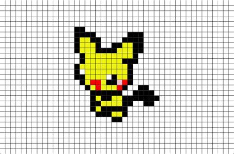 pokemon pichu pixel art brik