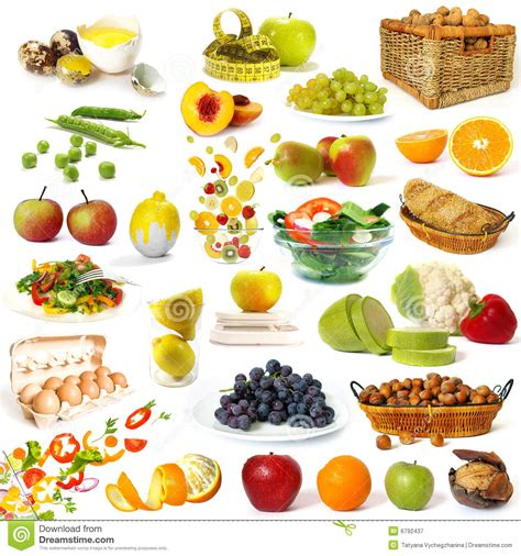 ideal cuisine healthy food collection stock image image of assortment