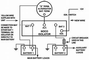 thesambacom gallery noco battery isolator wiring diagram With dual battery isolator wiring diagram likewise 6 volt rv battery wiring