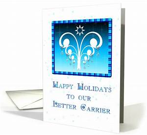 holiday thank you letter carrier card 216719 With letter carrier mailman thank you cards