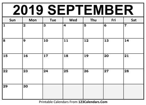 september  printable calendar calendarscom