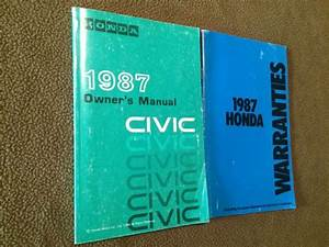 Sell 1987 Honda Civic Owners Manual Guide Book Operating