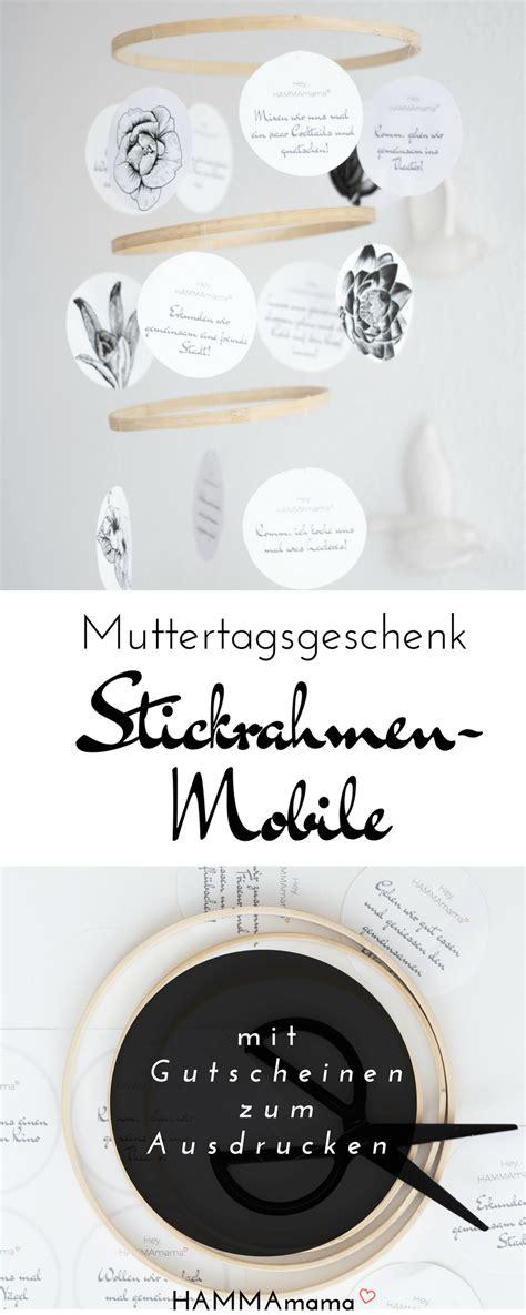 Stickrahmen Selber Machen by Diy Stickrahmen Mobile Als Muttertagsgeschenk Selber